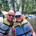 Lynnette and Jim on the Nantahala River near Bryson City, NC.