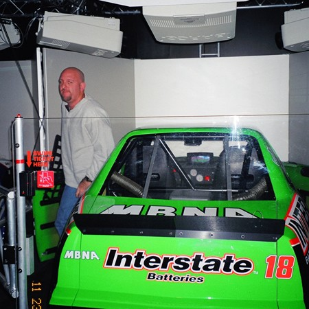Nascar Speedway car simulators in the Opry Mills Mall, Nashville.