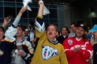 2004 playoff game - the Nashville Predators beat the Detroit Redwings!