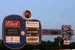 Nashville Sounds scoreboard shaped like a guitar. This IS Music City USA!