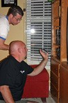 Neil showing Jim how the MyFi XM Satellite Radio works with your personal home stereo speakers.