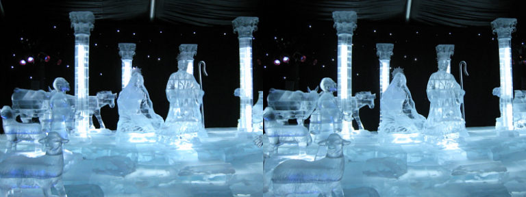 Opryland ice sculptures.