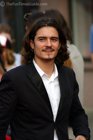 Orlando Bloom in Franklin Tennessee.