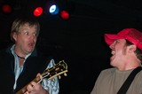 Pat Green and his electric guitarist Brett Danaher performing at The Trap in Nashville, Tennessee.