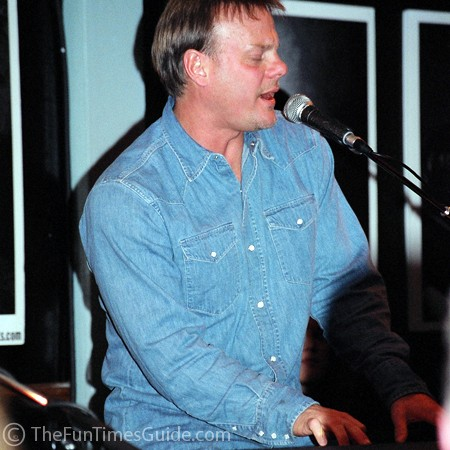 Phil Vassar playing keyboards at the Bluebird Cafe.