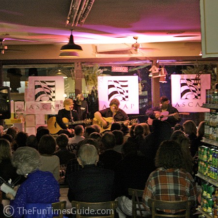 Puckett's Grocery is a standing-room-only facility for in-the-round performances every Friday night.