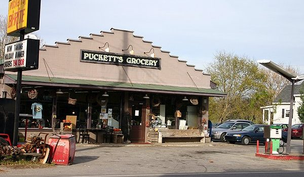 Puckett's Grocery in Leipers Fork, TN -- it's a gas station, a grocery store, a convenience store, and a live music venue where Nashville celebrities frequently hang out!