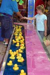 Rubber ducky midway game at the Williamson County Fair in Franklin, Tennessee.