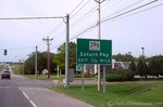 Saturn Parkway sign in Spring Hill, Tennessee.