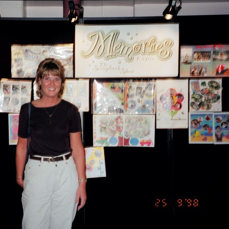I had entered a couple of my scrapbook layouts in a contest at the first Scrapbooking Convention in Orlando.