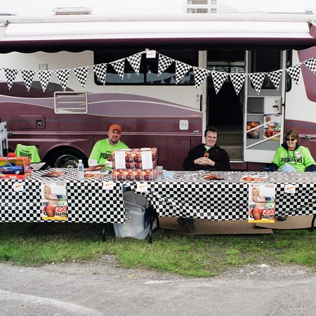 Selling programs from the RV.