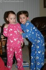 Brother and sister... Shelby and Dylan in matching PJs.