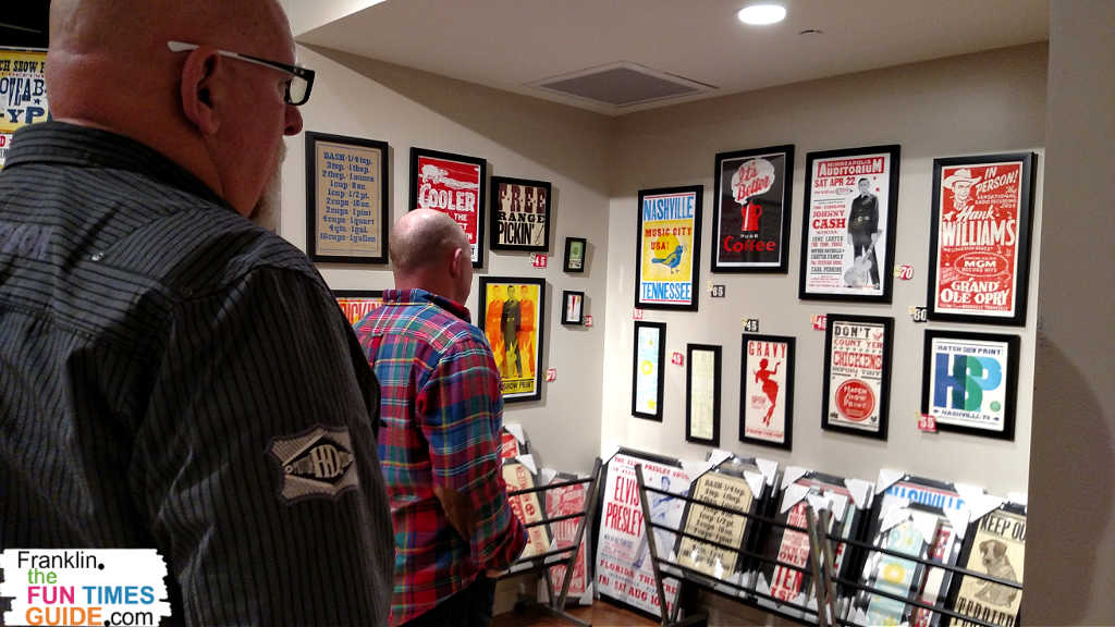 Hatch Show Prints in Nashville has lots of cool posters that commemorate practically every major event that has ever taken place in Nashville TN!
