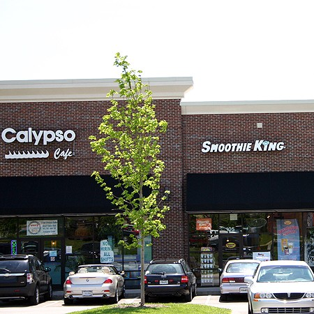 Two of our favorite places in Cool Springs -- Calypso Caribbean Cafe and Smoothie King.