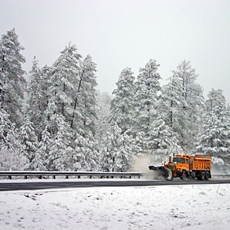 We were thrilled to see the snow plows come out in full force in Arizona!