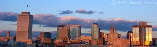 A picture of the Nashville skyline as the sun was setting over the city.