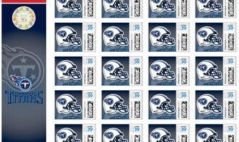 Tennessee Titans U.S. Postage Stamps