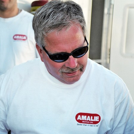 Terry McMillen drives the Amalie Oil Funny Car.