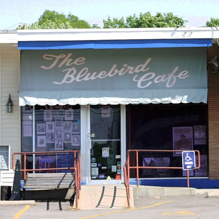 The Bluebird Cafe on a quiet afternoon