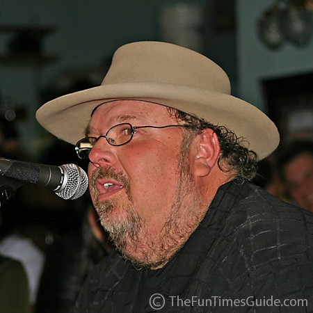 Tony Mullins singing at the Bluebird Cafe.