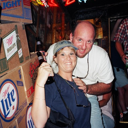 Inside the very crowded Tootsie's Orchid Lounge, a legendary bar in Nashville.