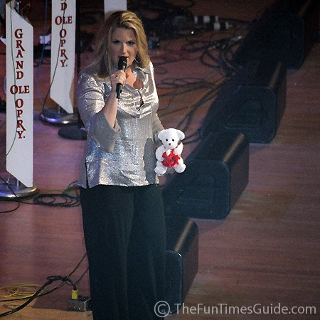Trisha Yearwood at the Grand Ole Opry in Nashville, Tennessee.