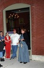 Tour guide giving a haunted walking tour of downtown Franklin, Tennessee.
