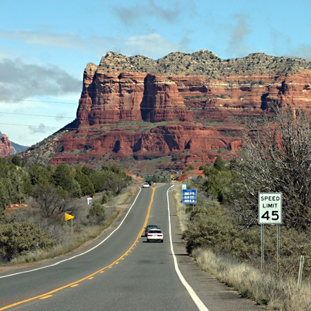 Highway 179 as we entered Sedona, Arizona.