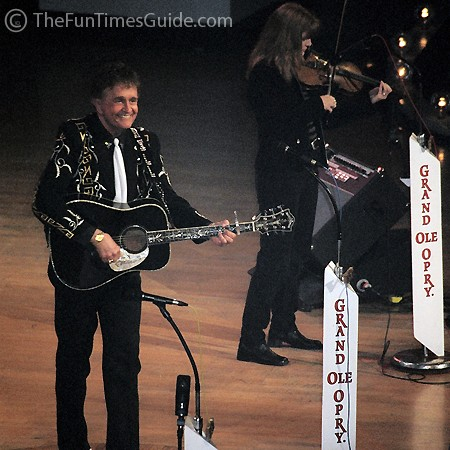 Bill Anderson at the Grand Ole Opry in Nashville.