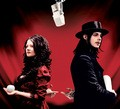 The White Stripes... Meg and Jack White.