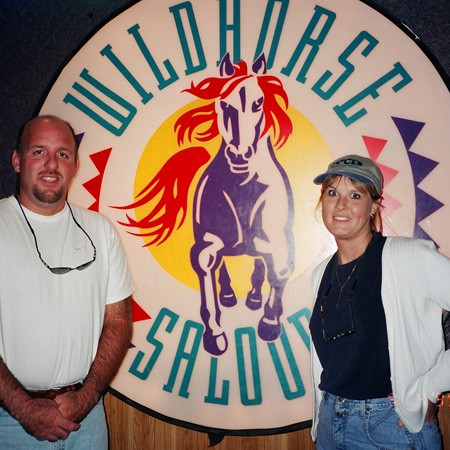 Your typical tourists at the Wildhorse Saloon in downtown Nashville.