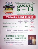 Williamson County Fair flyer posted at the Daily's in Franklin, Tennessee.