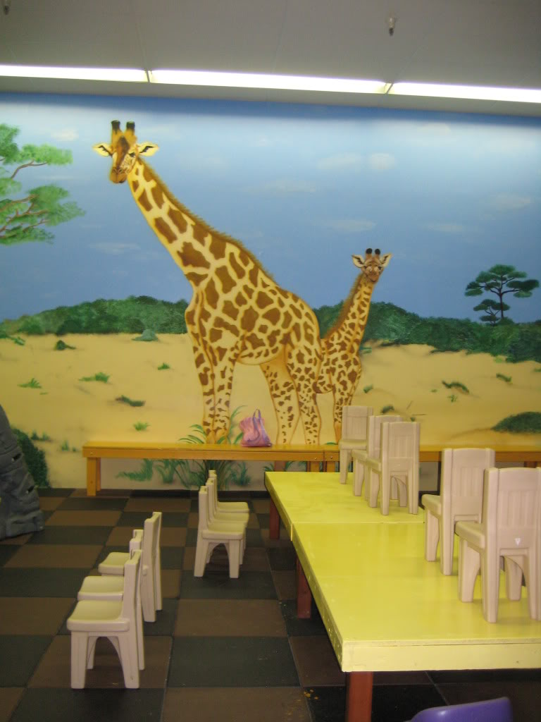 Rainbow play systems a party room for kids in franklin for African wall mural