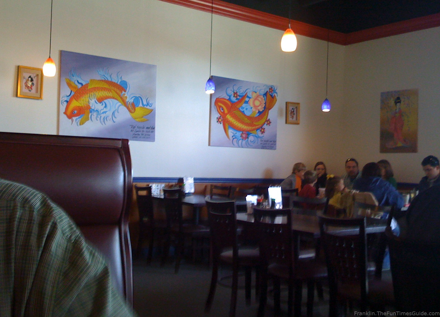 Marvelous Koi Thai Restaurant Fish Artwork